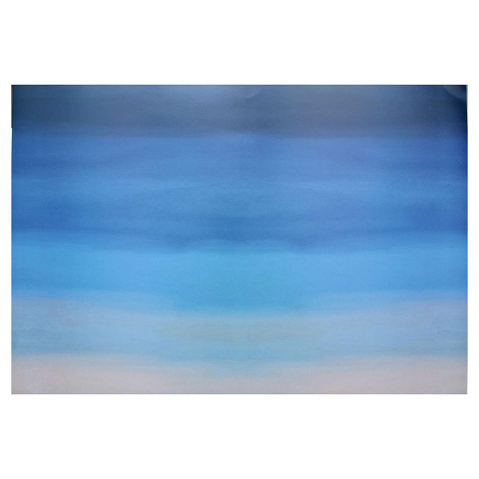 Fondale cielo presepe cartoncino 70x100 cm 4