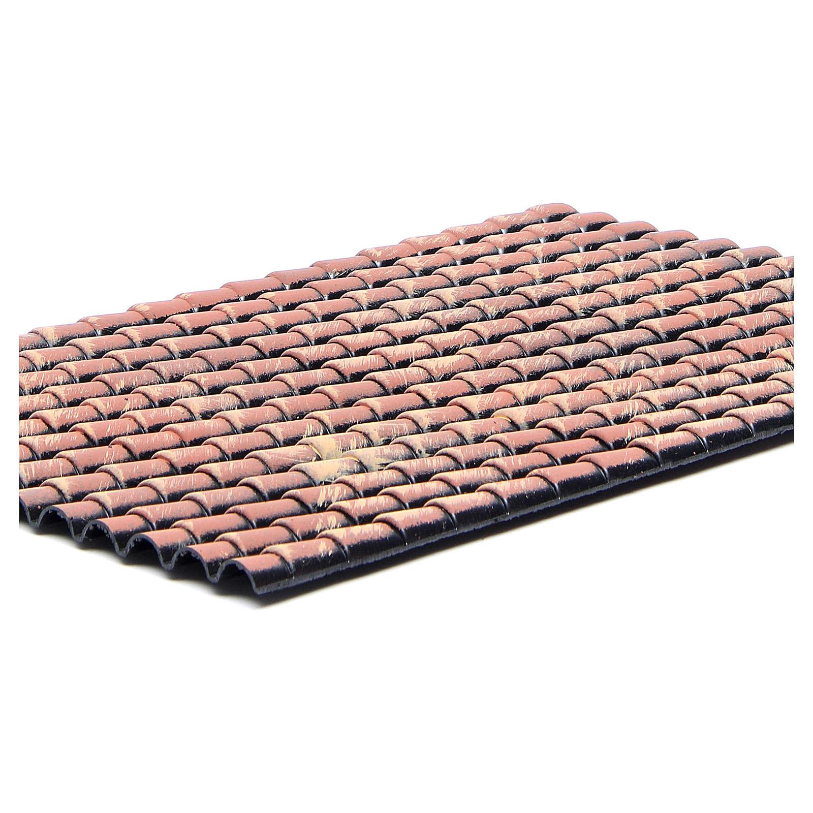 Panel techo belén tejas rojas degradadas 35x25 cm 4