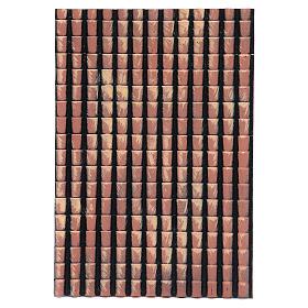 Accesorios para la casa: Panel techo belén tejas rojas degradadas 35x25 cm