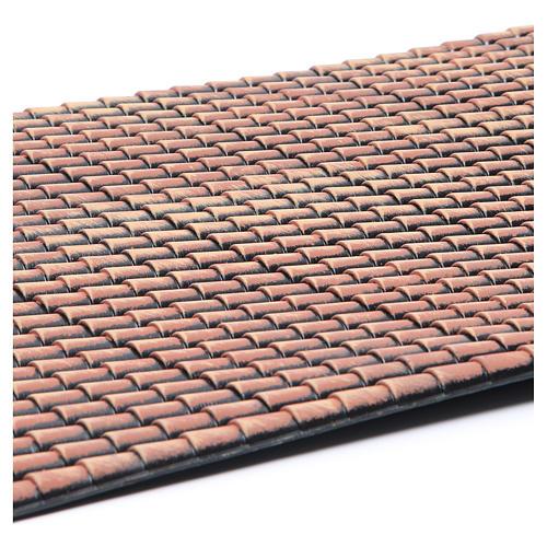Techo belén panel tejas rojas degradadas 70x50 cm 2