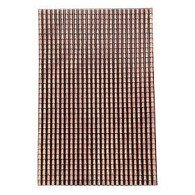 Toit crèche panneau tuiles rouges nuancées 70x50 cm s1