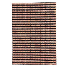 Techo belén plástico panel tejas rojas degradadas 50x35 cm s1