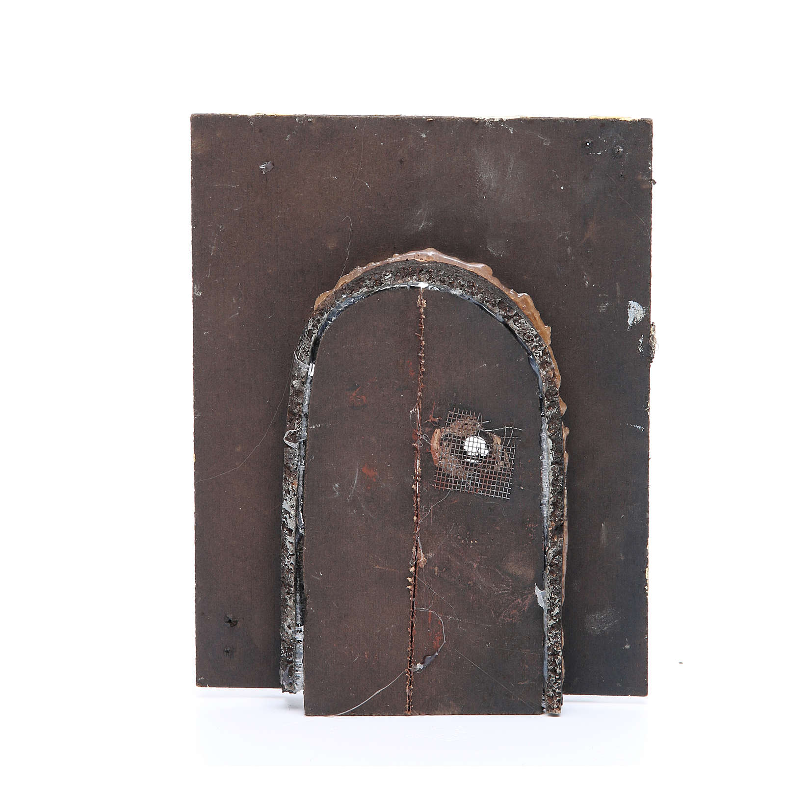 Wall with door for DIY nativities 20x15x2.5cm 4