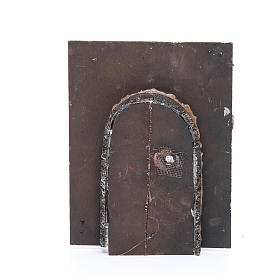 Wall with door for DIY nativities 20x15x2.5cm s2