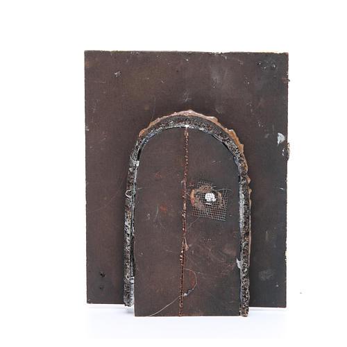 Wall with door for DIY nativities 20x15x2.5cm 2