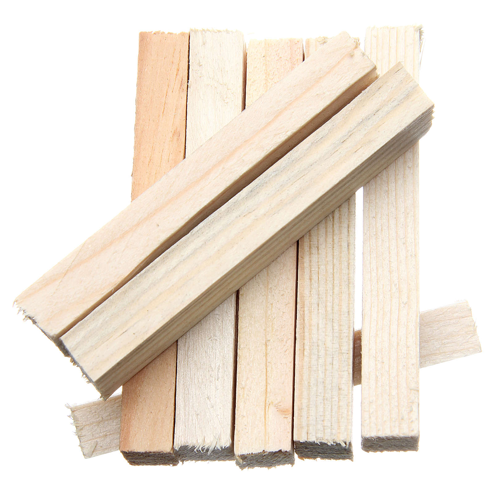 Listelli in legno presepe 8x1x1,5 cm set 8 pz 4