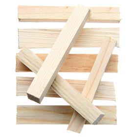 Listelli in legno presepe 8x1x1,5 cm set 8 pz s1