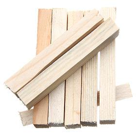 Listelli in legno presepe 8x1x1,5 cm set 8 pz s2