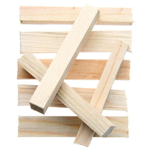 Listelli in legno presepe 8x1x1,5 cm set 8 pz 1