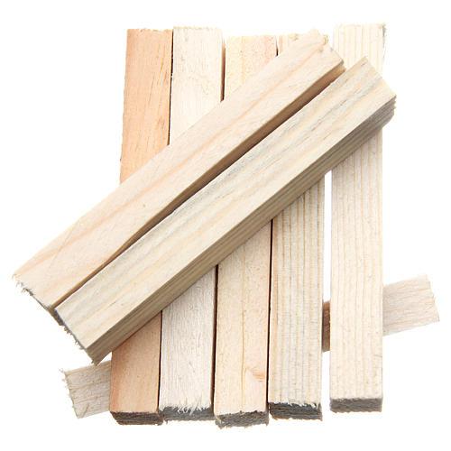 Listelli in legno presepe 8x1x1,5 cm set 8 pz 2