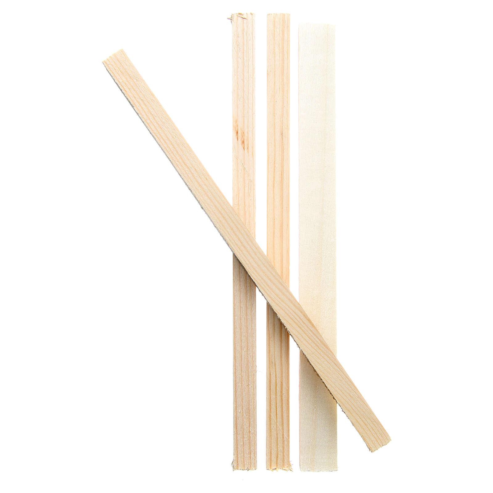 Listelli in legno 19x1x1,5 cm per presepe 4