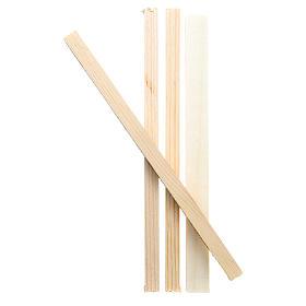 Listelli in legno 19x1x1,5 cm per presepe s1