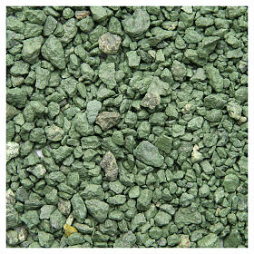Green pebbles for nativities, 500gr s1