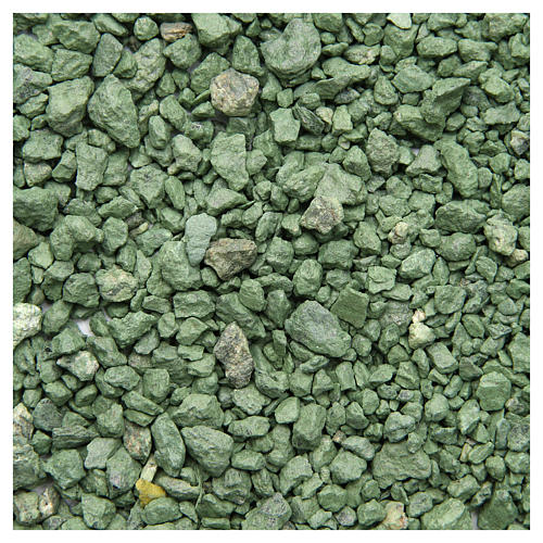 Green pebbles for nativities, 500gr 1
