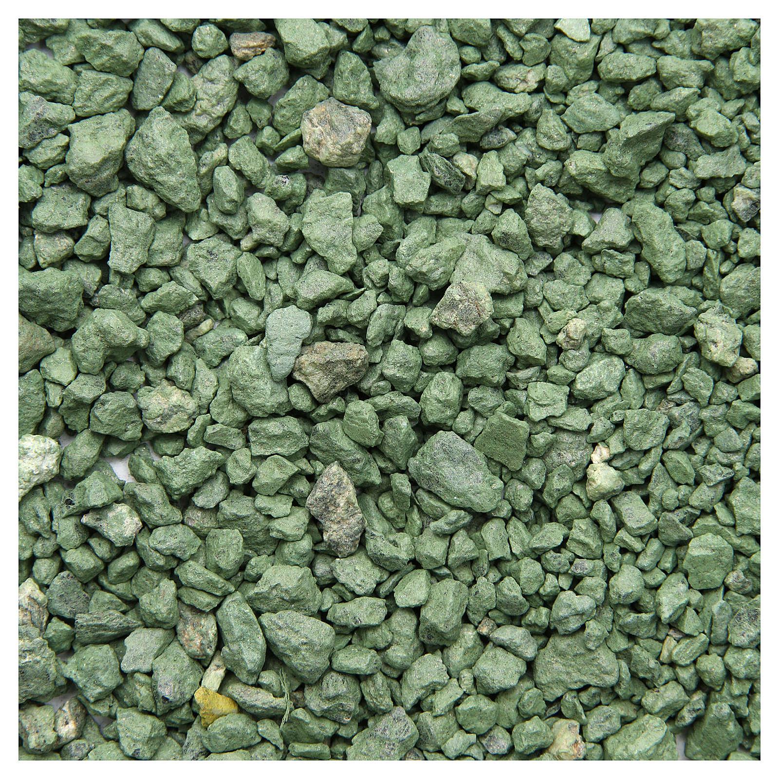 Ghiaia verde 500 gr presepe 4