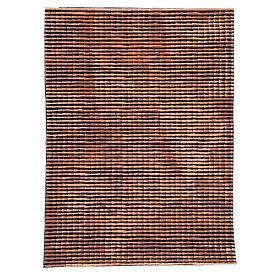 Pannello tetto presepe rosso sfumato tegole piccole 70x50 cm s1