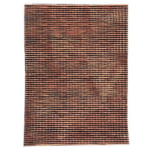 Pannello tetto presepe rosso sfumato tegole piccole 70x50 cm 1