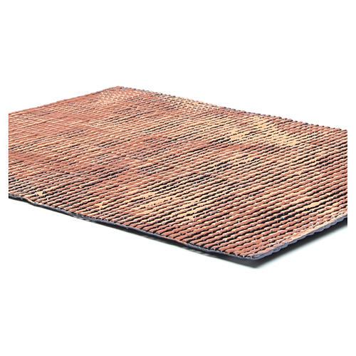 Pannello tetto presepe rosso sfumato tegole piccole 70x50 cm 2