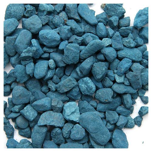 Light blue pebbles for nativities, 500gr 1
