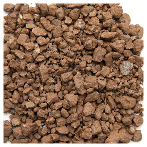 Brown pebbles for nativities, 500gr 1
