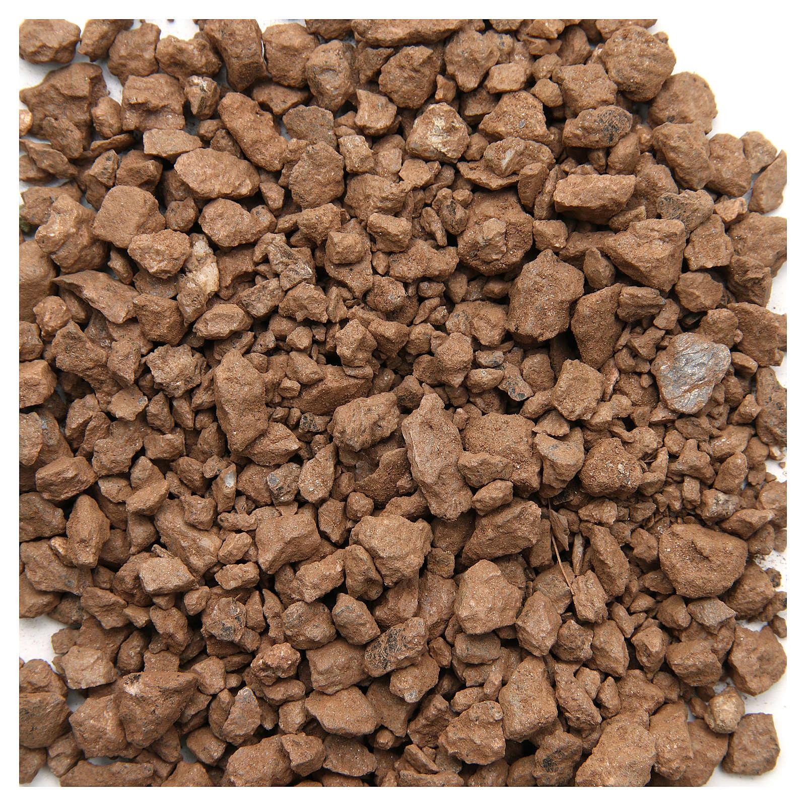 Ghiaia marrone 500 gr presepe 4