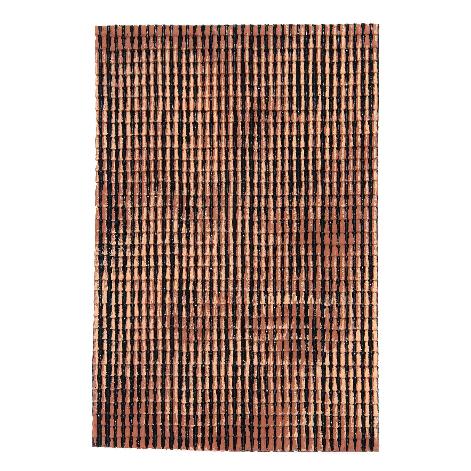 Pannello tetto presepe rosso sfumato tegole piccole 50x35 cm 4
