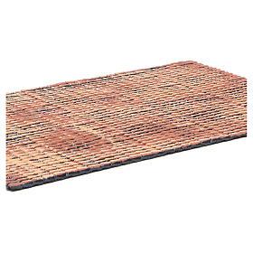 Pannello tetto presepe rosso sfumato tegole piccole 50x35 cm s2