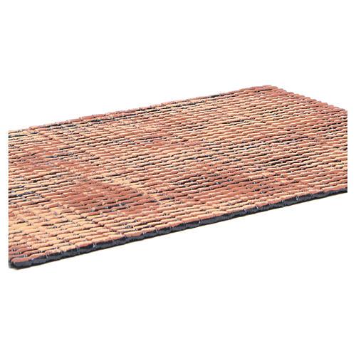 Pannello tetto presepe rosso sfumato tegole piccole 50x35 cm 2