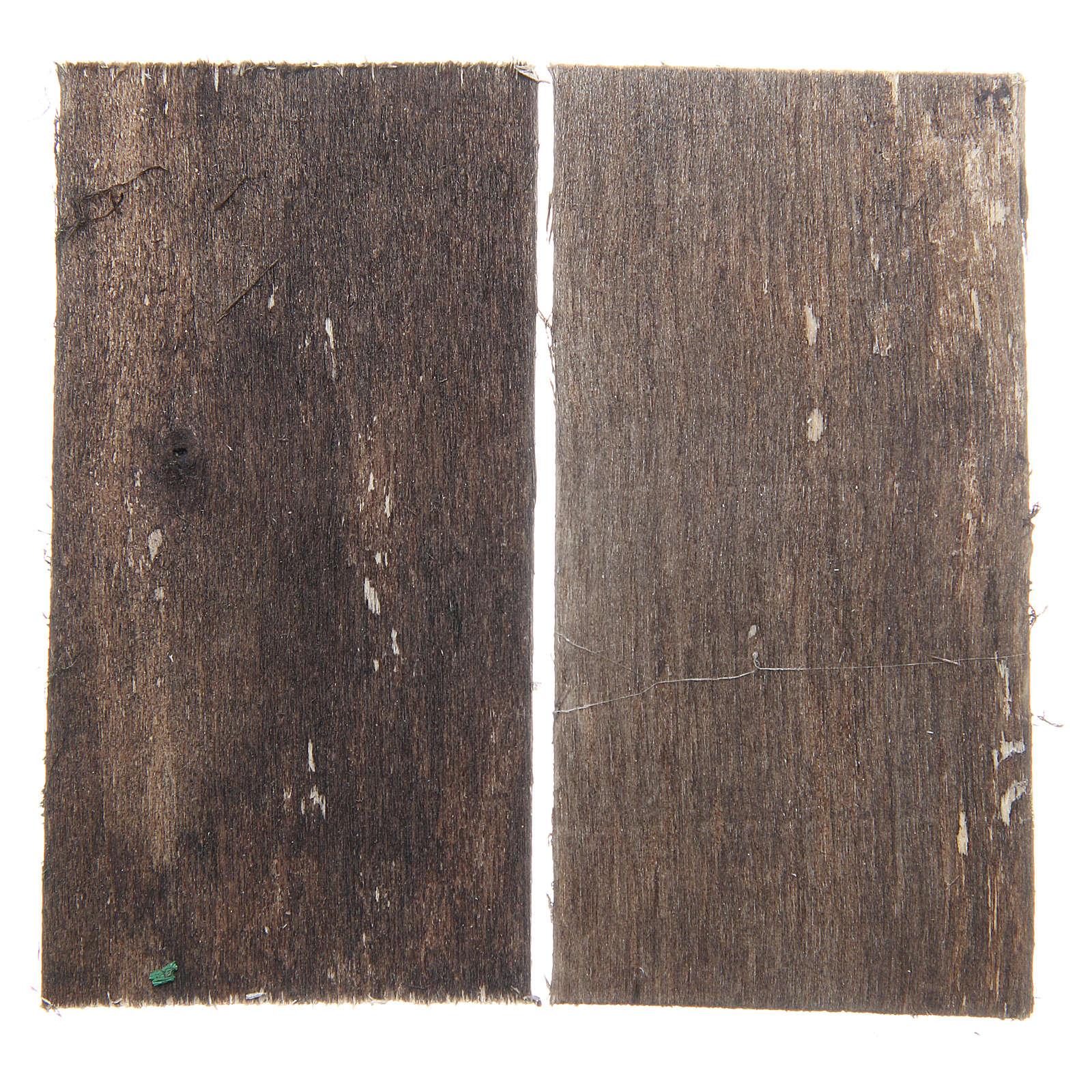 Wooden door for DIY nativities, rectangular 8.5x4.5, set of 2 4