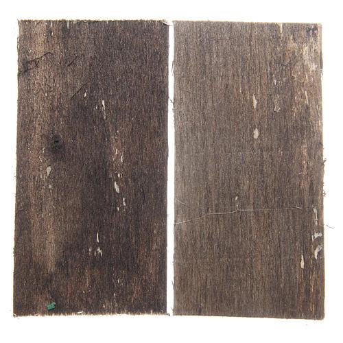 Wooden door for DIY nativities, rectangular 8.5x4.5, set of 2 2