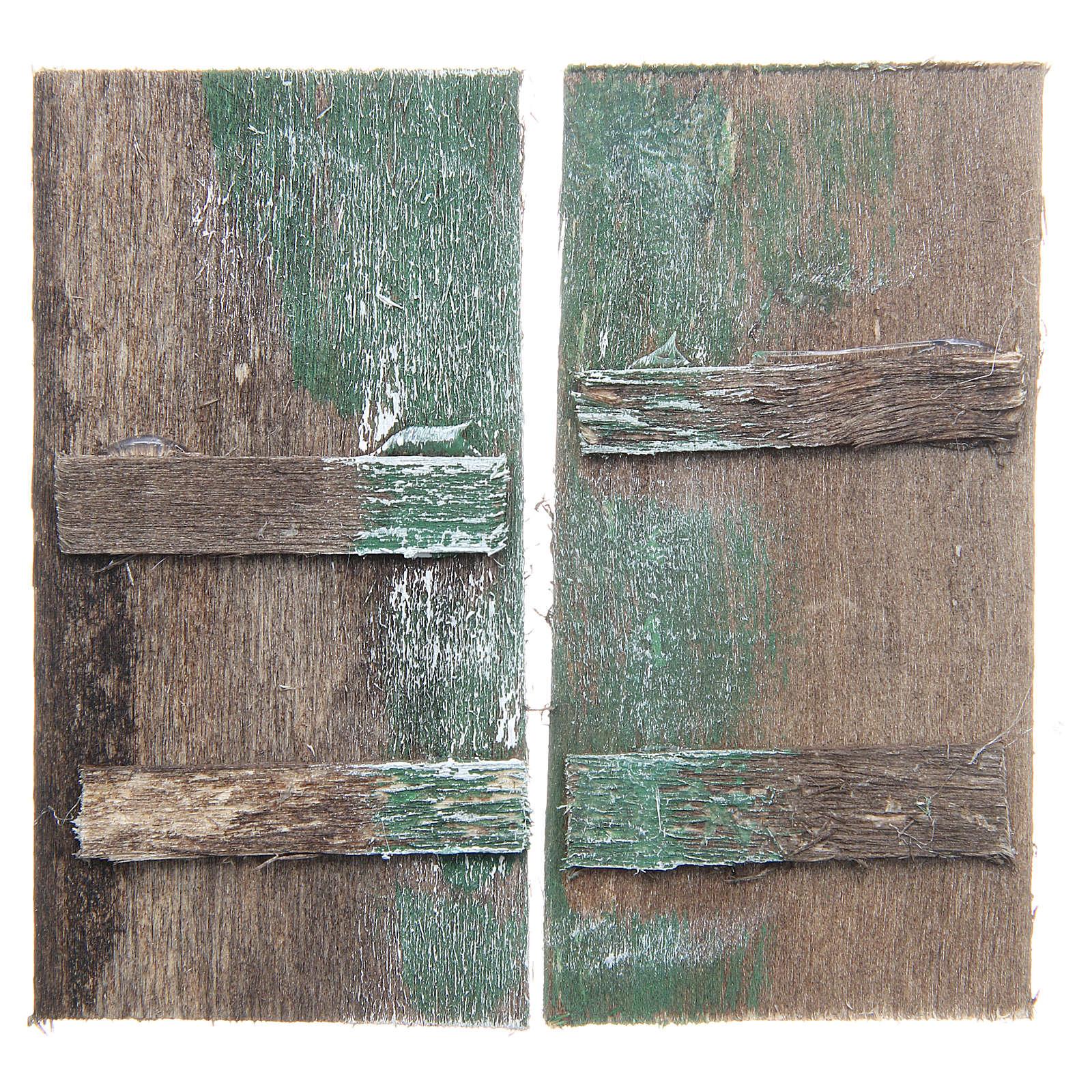 Puerta de madera 8,5x4,5 rectangular set 2 piezas 4
