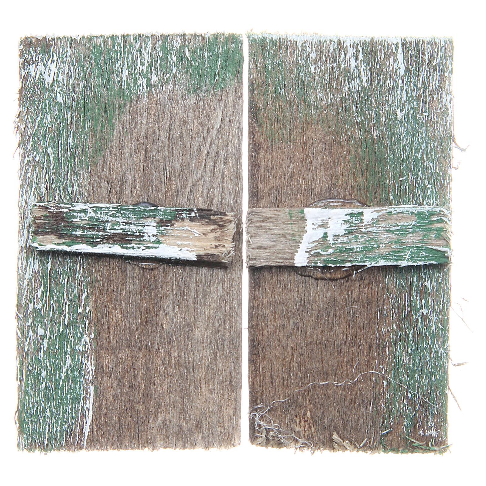 Fenêtre en bois 5,5x3 cm rectangulaire set 2 pcs 4