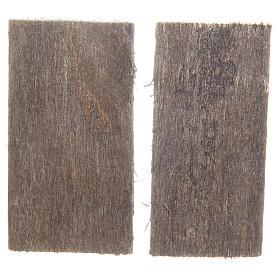 Fenêtre en bois 5,5x3 cm rectangulaire set 2 pcs s2