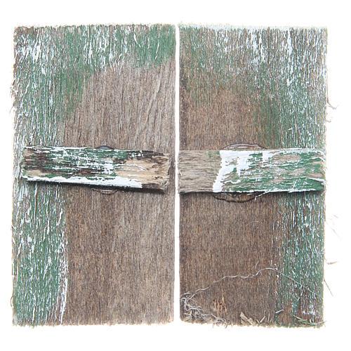 Fenêtre en bois 5,5x3 cm rectangulaire set 2 pcs 1