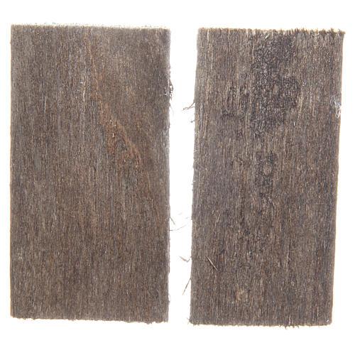 Fenêtre en bois 5,5x3 cm rectangulaire set 2 pcs 2