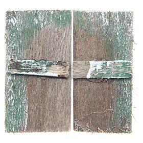 Finestra in legno cm 5,5x3 rettangolare set 2 pz s1