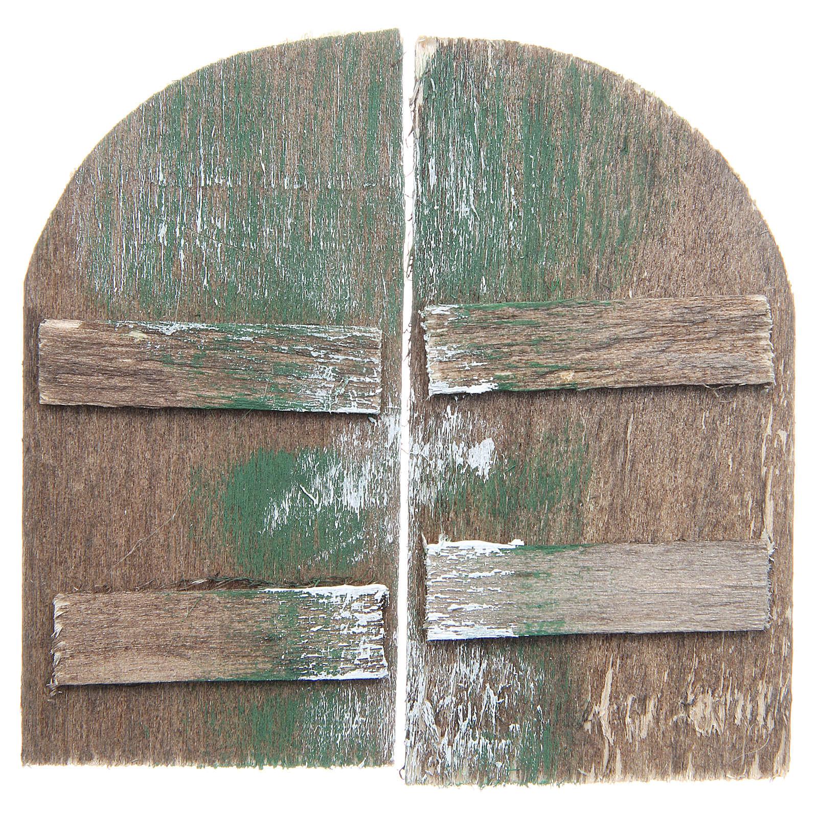 Wooden door for DIY nativities, arch shaped 8.5x4.5, set of 2 4