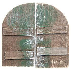 Wooden door for DIY nativities, arch shaped 8.5x4.5, set of 2 s1