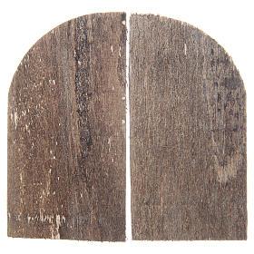 Wooden door for DIY nativities, arch shaped 8.5x4.5, set of 2 s2