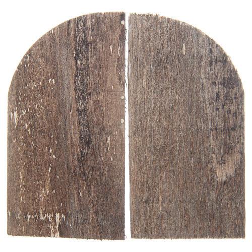 Wooden door for DIY nativities, arch shaped 8.5x4.5, set of 2 2