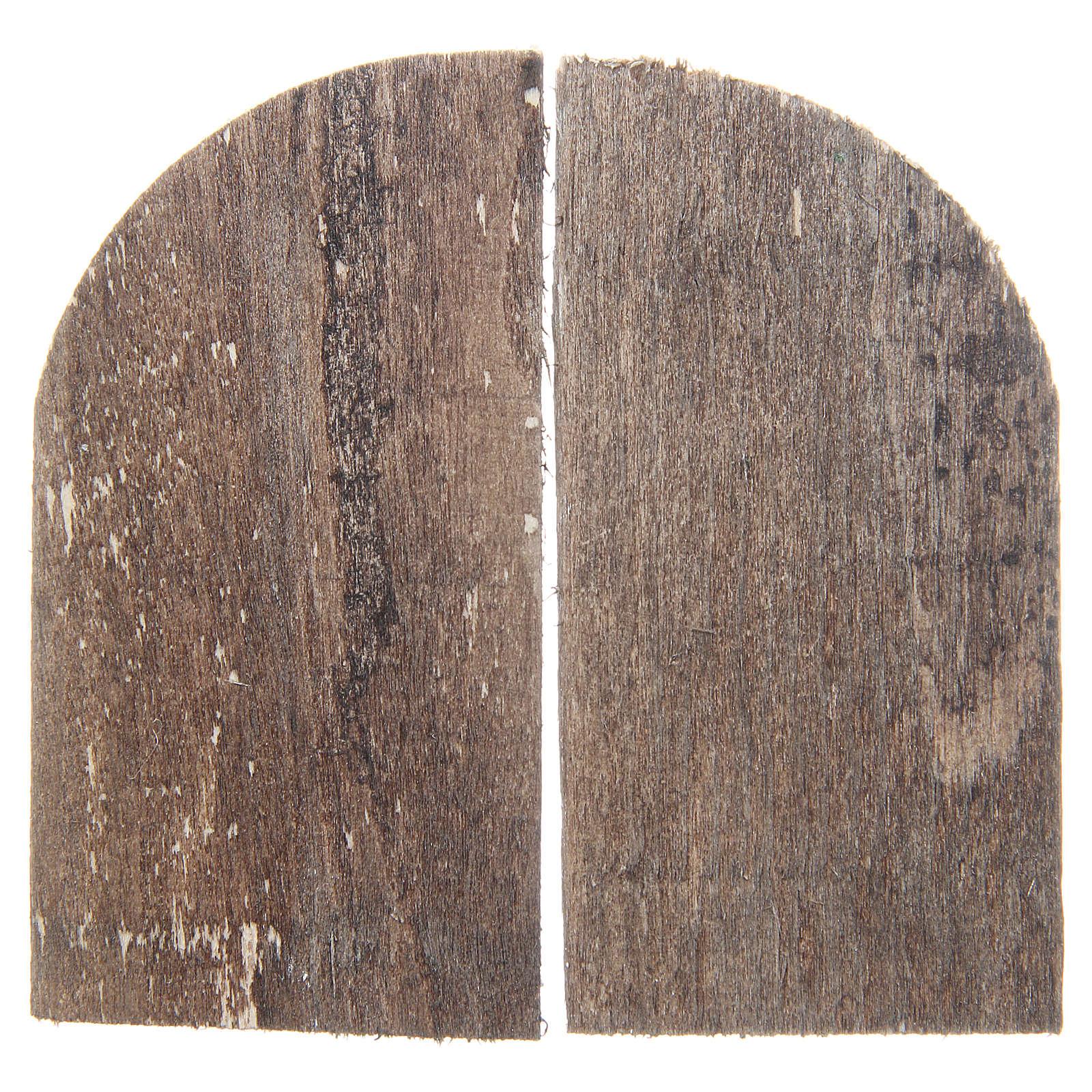 Porta in legno cm 8,5x4,5 ad arco set 2 pz 4