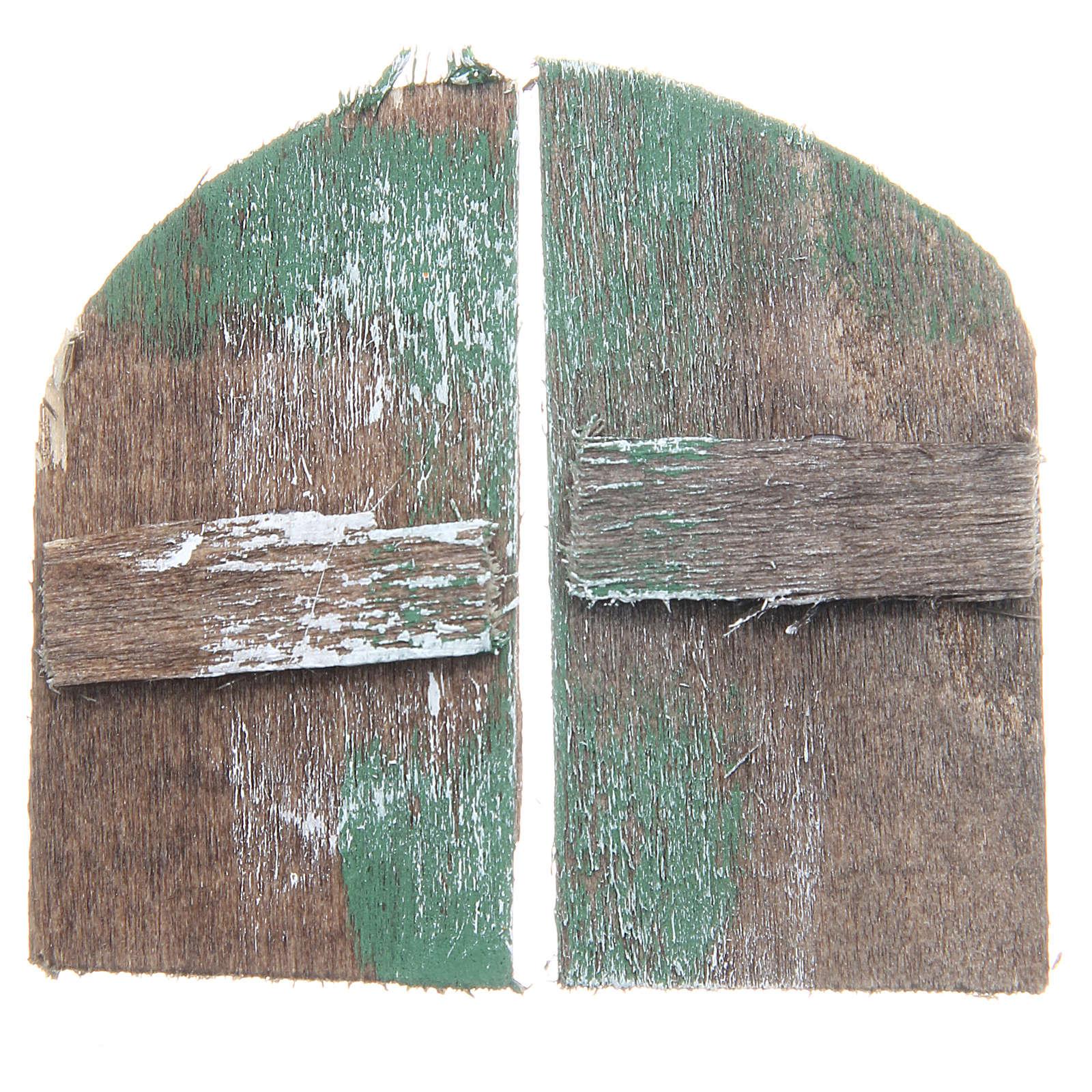Finestra in legno cm 5,5x3 ad arco set 2 pz 4
