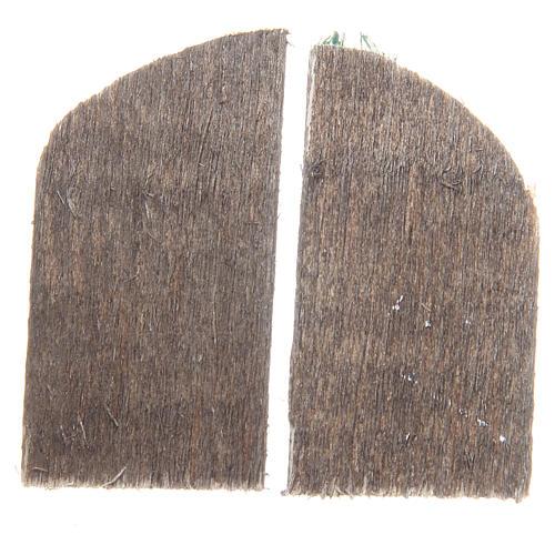 Finestra in legno cm 5,5x3 ad arco set 2 pz 2