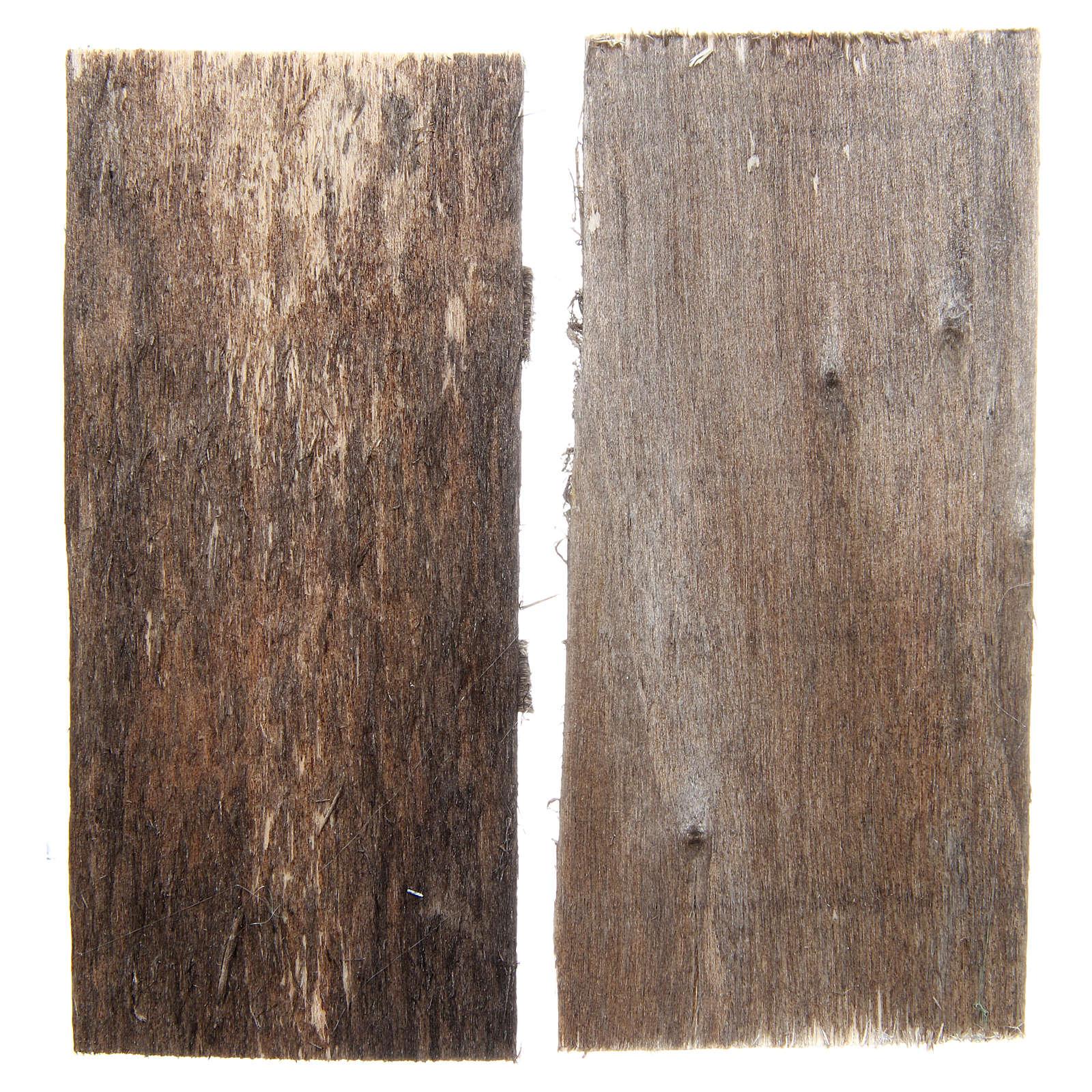Wooden door for DIY nativities, rectangular 11.5x5.5, set of 2 4