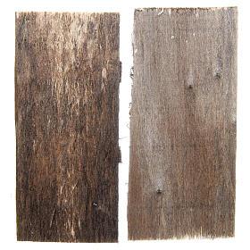 Wooden door for DIY nativities, rectangular 11.5x5.5, set of 2 s2
