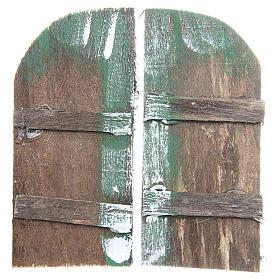 Balustrade, doors, railings: Wooden door for DIY nativities, arch shaped 11.5x5.5, set of 2