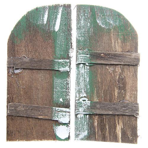 Puerta de madera cm 11,5x5,5 de arco set 2 piezas 1