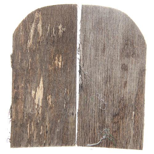 Puerta de madera cm 11,5x5,5 de arco set 2 piezas 2