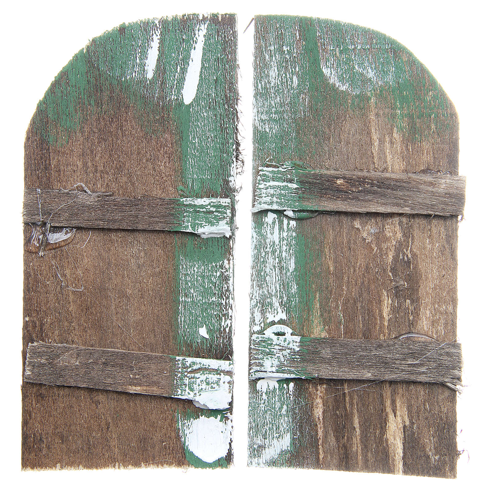 Wooden door for DIY nativities, arch shaped 11.5x5.5, set of 2 4