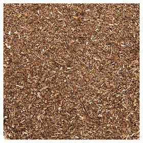 Muschio, licheni, piante, pavimentazioni: Polvere marrone 80 gr per presepe